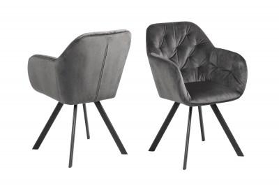 Dizajnová stolička Aletris, tmavosivá
