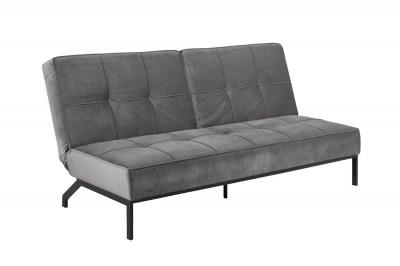 Designová rozkládací sedačka Amadeo 198 cm tmavě šedá