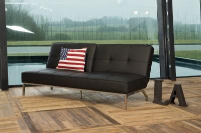 Designová rozkládací sedačka Amadeo 198 cm černá