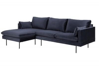 Designová sedací souprava Nanjala 242 cm levá tmavě modrá