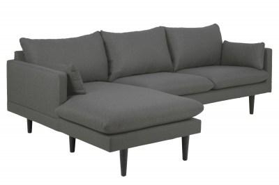 Designová sedací souprava Nanjala 242 cm levá tmavě šedá