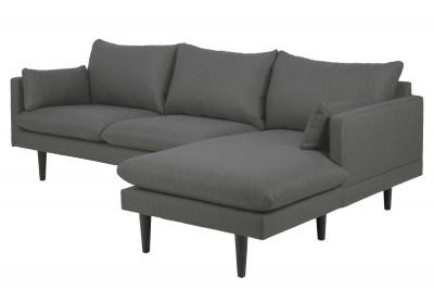 Designová sedací souprava Nanjala 242 cm pravá tmavě šedá