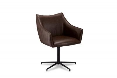 Designová stolička Abanito, tmavohnědá