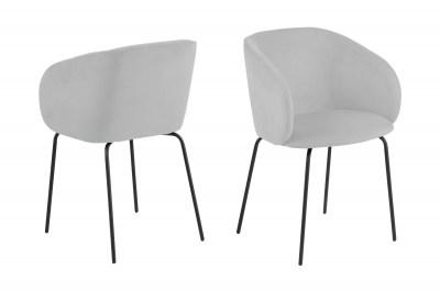 Designová židle Albee světlešedá