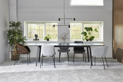 Dizajnová stolička Albee, svetlosivá
