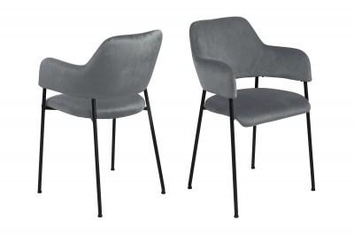 Designová židle Albus tmavě šedá