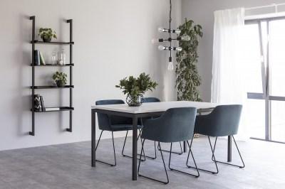 Dizajnová stolička Aleem, tmavomodrá
