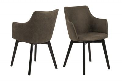 Designové židle Aleksander olivově zelená
