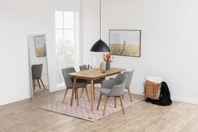 Dizajnová stolička Aleksander, svetlosivá