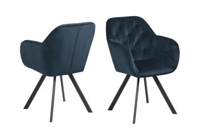 Designová židle Aletris tmavě modrá