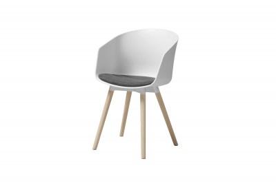 Designová židle Almanzo bílá / antracitová