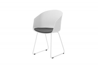 Designová židle Almanzo bílá / šedá