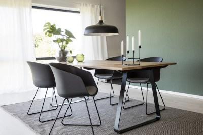 Designová stolička Almanzo černá / šedá