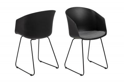 Designová židle Almanzo černá / šedá