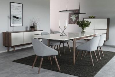 Designová stolička Almeisan světlešedá