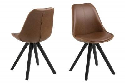 Designová židle Nascha brandy
