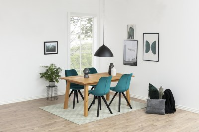 Dizajnová stolička Nascha, fľaškovo zelená čierna