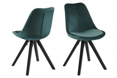Designová židle Nascha lahvově zelená černá