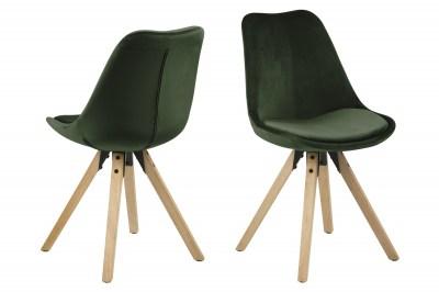 Designová židle Nascha lesní zelená