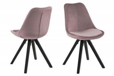 Designová stolička Nascha světle růžová-černá