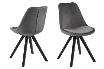 Designová židle Nascha tmavě šedá černá