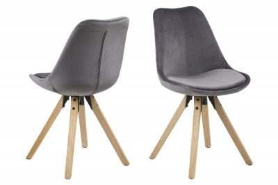 Designoví židle Nascha tmavě šedá tkanina