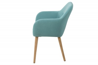 Designová židle Nashira azúrová