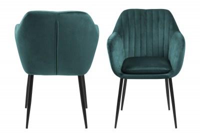 Designová židle Nashira lahvově zelená kovová