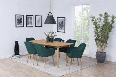 Dizajnová stolička Nashira, fľaškovo zelená VIC