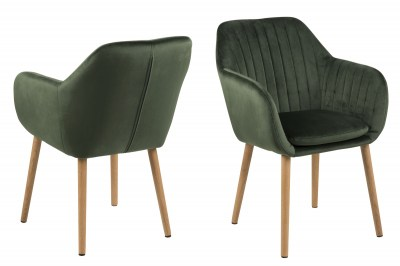 Designová židle Nashira lesní zelená VIC