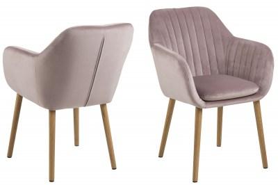 Designová židle Nashira světle růžová VIC