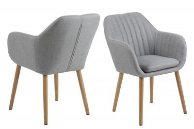 Designová židle Nashira II světle šedá