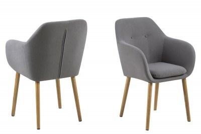 Designová židle Nashira světle šedá
