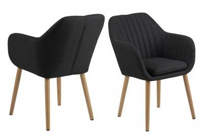 Designová židle Nashira tmavá antracitová