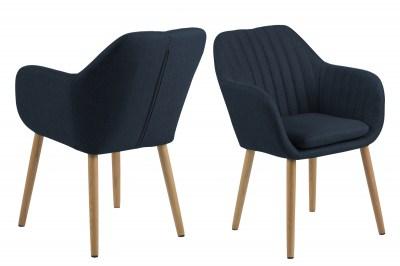 Designová židle Nashira tmavě modrá 2