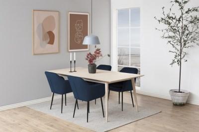Dizajnová stolička Nashira, tmavo modrá, kovová