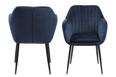 Designová židle Nashira tmavě modrá kovová