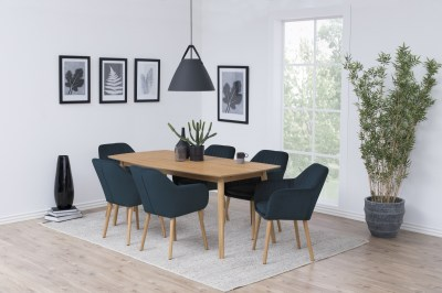 Dizajnová stolička Nashira, tmavo modrá VIC