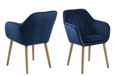 Designová židle Nashira tmavě modrá VIC