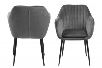 Designová židle Nashira tmavě šedá kovová