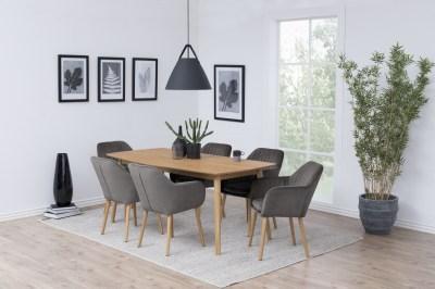 Dizajnová stolička Nashira, tmavo šedá VIC