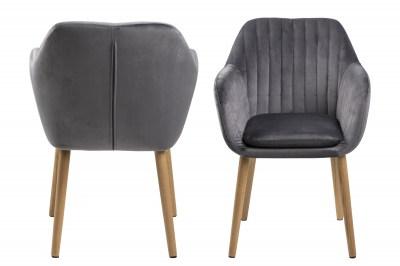 Designová židle Nashira tmavě šedá VIC