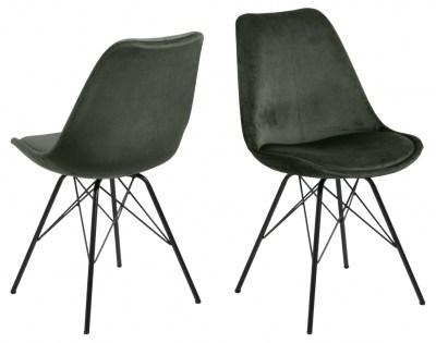 Designová židle Nasia černá chromová