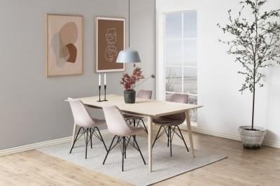 Designová stolička Nasia světle růžová