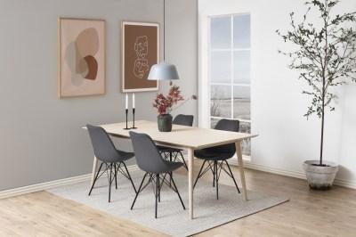 Designová stolička Nasia tmavě šedá