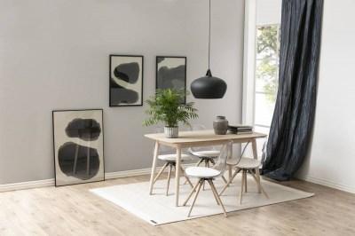 Designová stolička Nera průsvitná-bílá