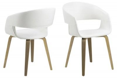 Designová židle Nere bílá-lípa