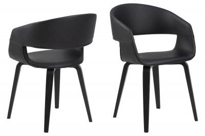 Designová židle Nere černá-bříza