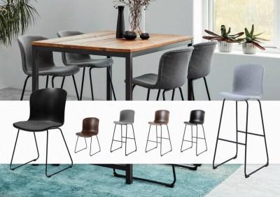 Designová stolička Nerilla brandy