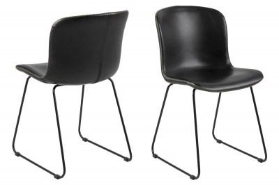 Designová židle Nerilla černá ekokůže